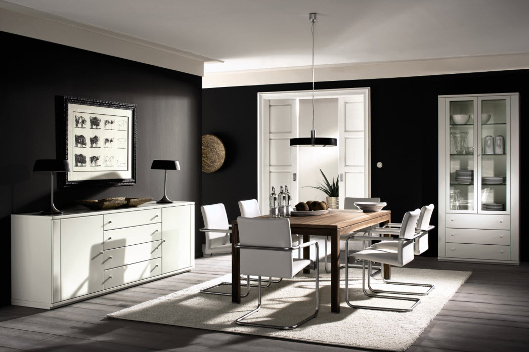 Awesome dining rooms from hulsta for Black decorated rooms