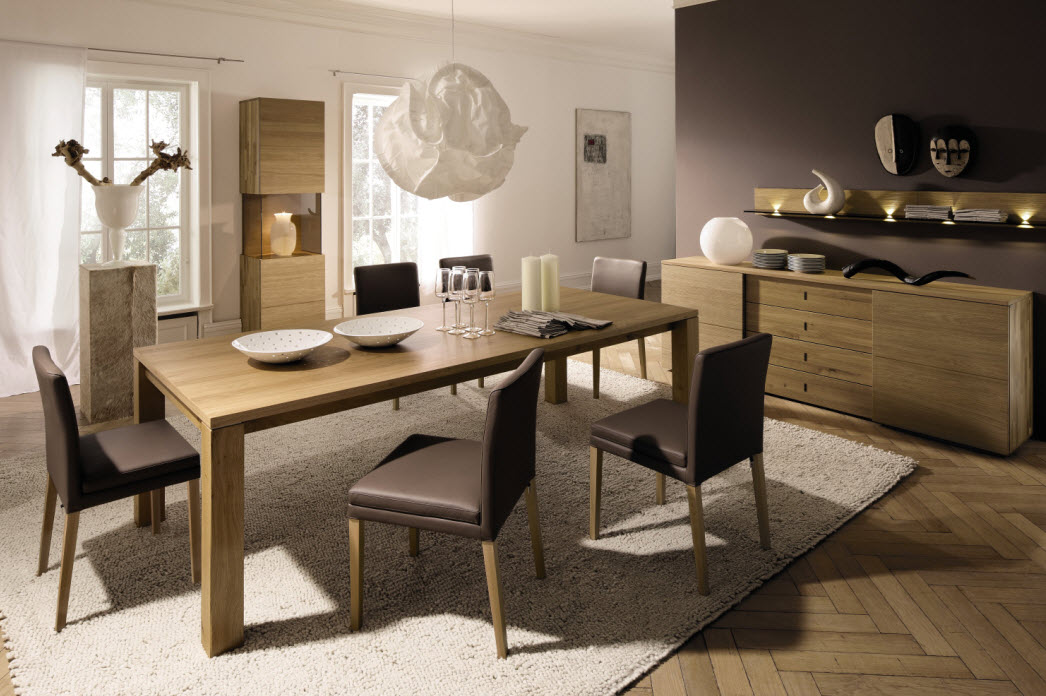 Awesome dining rooms from hulsta for Dining room table decor