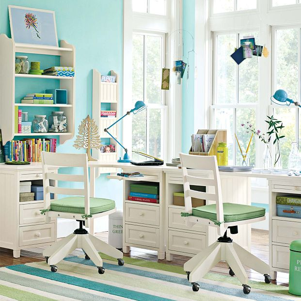 kids study room furniture define space experiment with colors