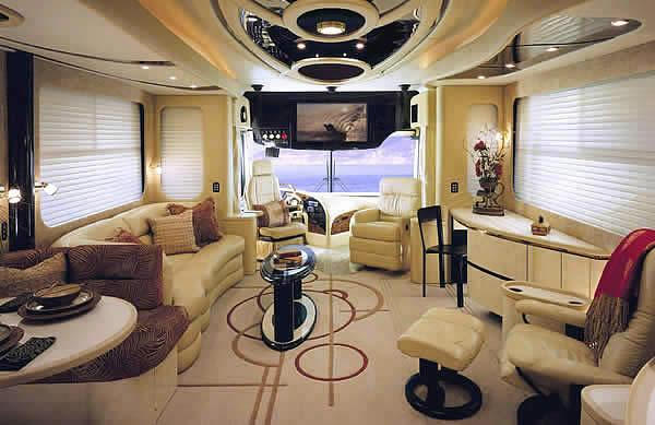 Gorgeous lounge inside the caravan