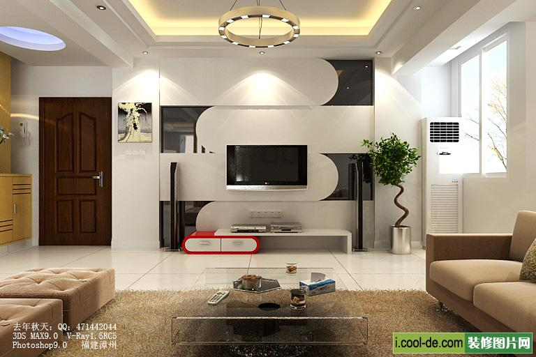 Living rooms with tv as the focus Interior decoration for living room