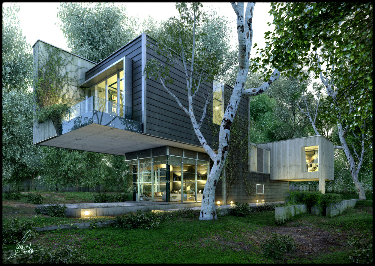 Amazing renderings of beautiful houses for Stunning houses pictures