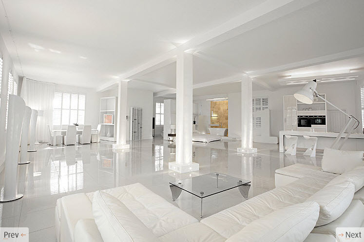White interior design for Clean interior design