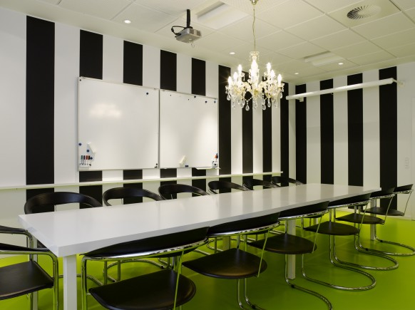 lego black white meeting room