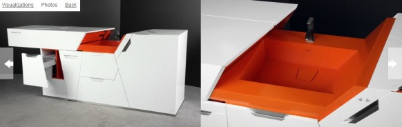 orange washbasin