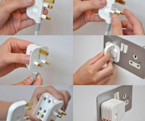 space saving 3 pin plug