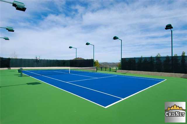 tennis court in petes house