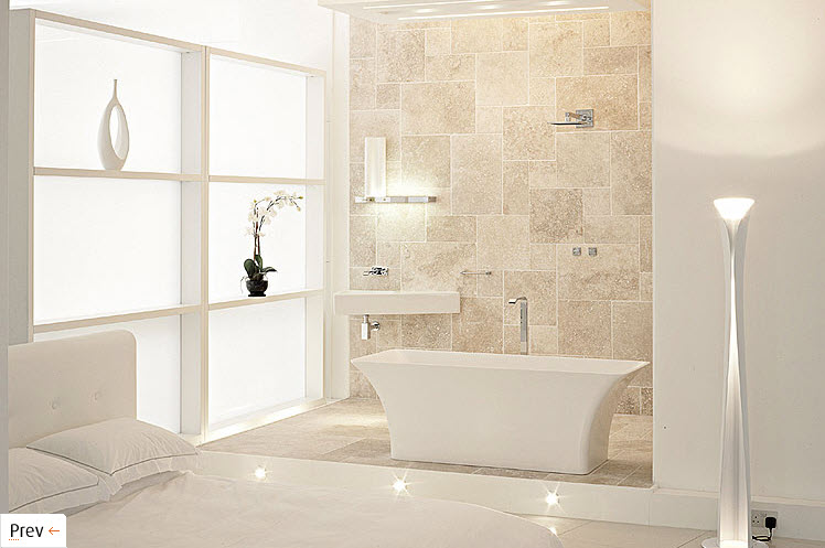 White interior design for Bathroom interior design white