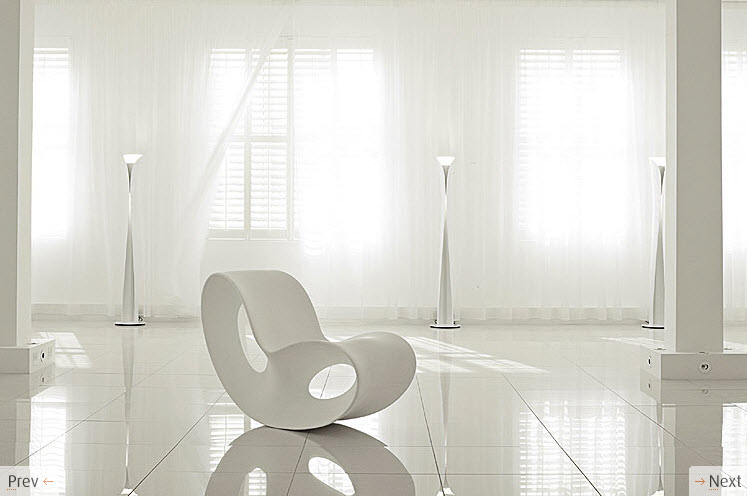 Awesome White Curvy Chair