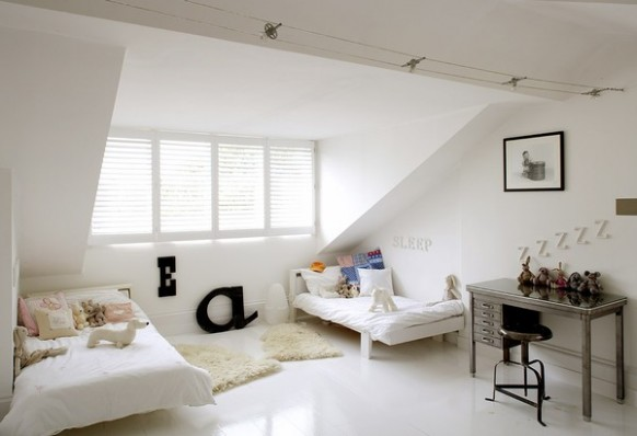 3 attic all white