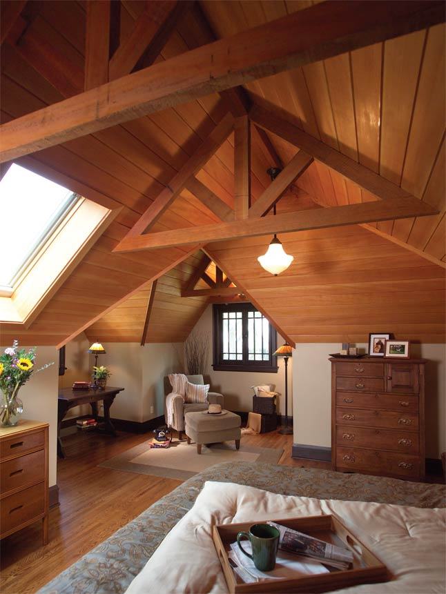 Cool attic spaces and ideas for Mansarde arredate foto