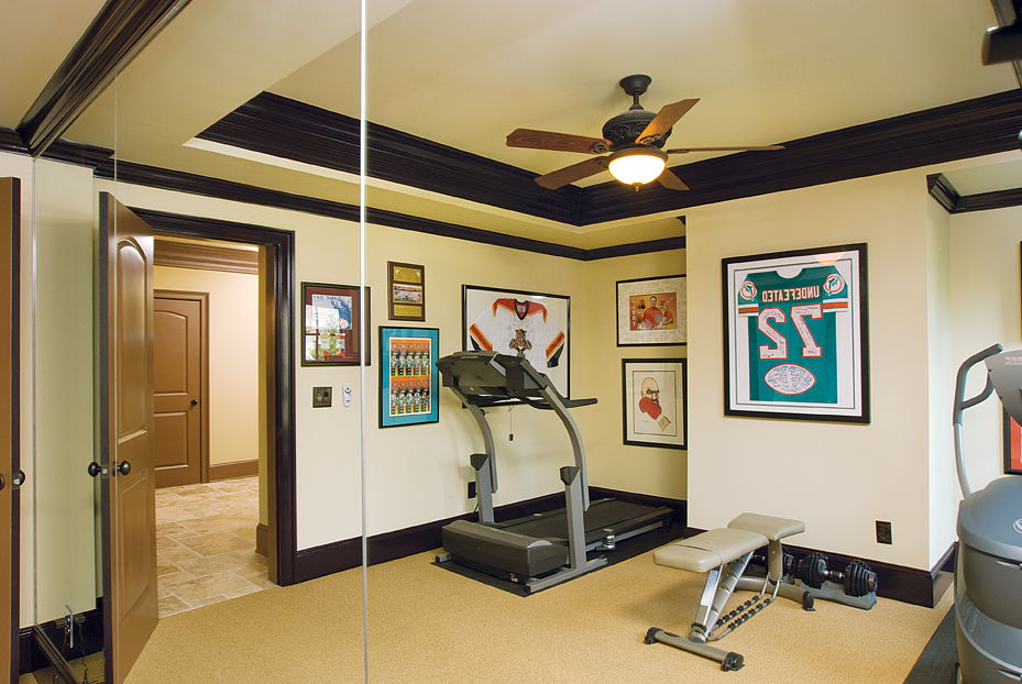 home gym in mirror - Home Gym Design Ideas