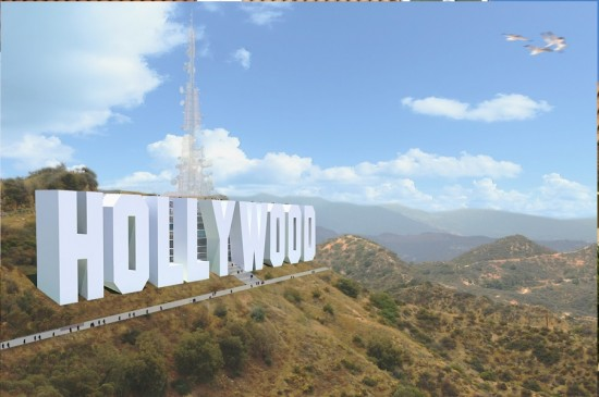 massive hollywood sign hotel