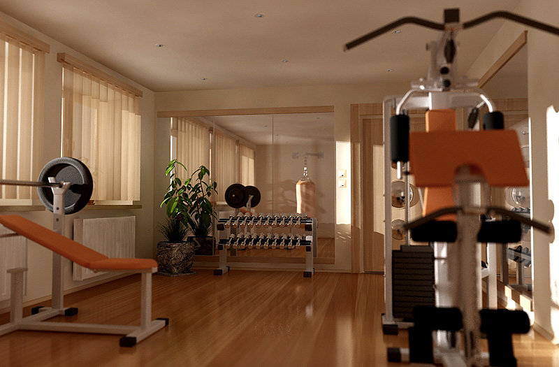 Home gym design tips and pictures for Small exercise room