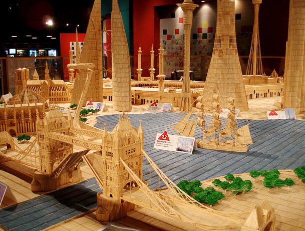 Fantastic City Made From Toothpicks
