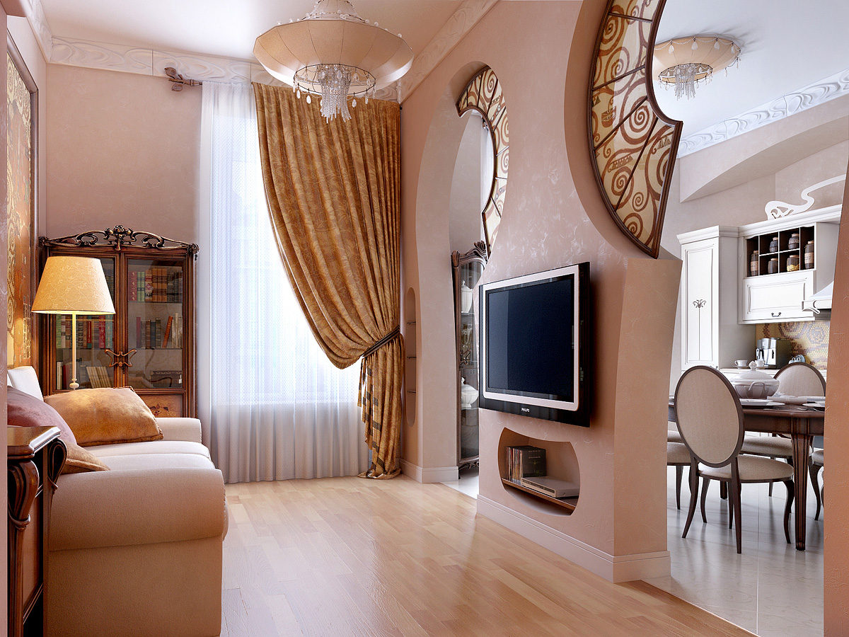 Stunning House Room Ideas. tv room Gostinnaya 3 1 Stunning Home Interior Renders