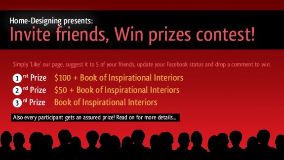 Participate in Home Designing's Facebook contest and win prizes!