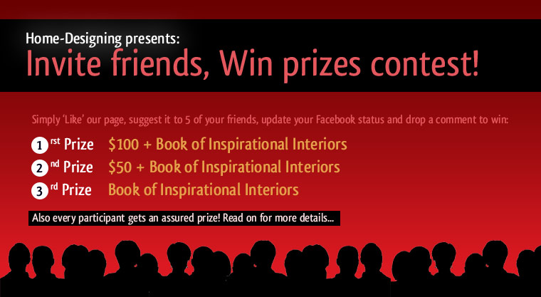 Participate in home designing 39 s facebook contest and win for Win a home contest