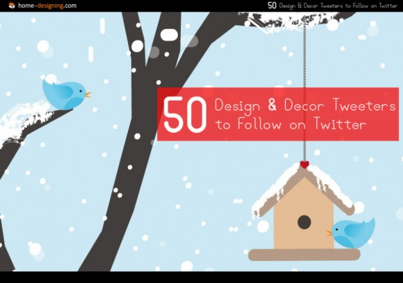 50 Design And Decor Tweeters To Follow On Twitter