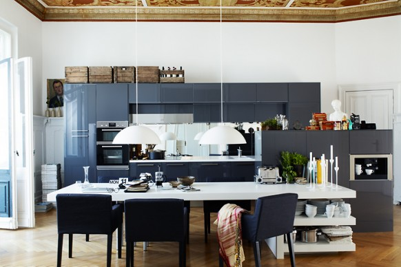 modern kitchen with storage
