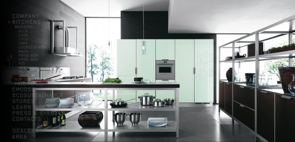 modern steel kitchen