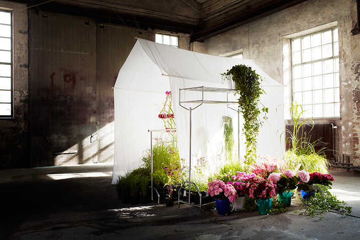 white tent with flowers & Beautiful Interior Photography From Pia Ulin