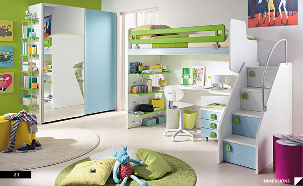 21 beautiful children 39 s rooms for Bedroom office combo