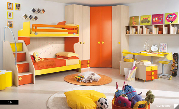 Modern Kids Bedroom. Furniture Maker: Columbini