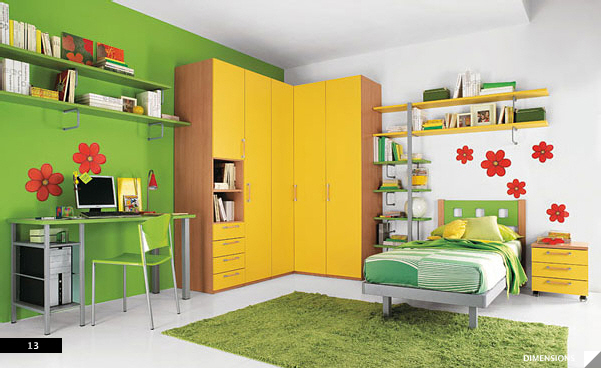 21 beautiful children 39 s rooms for Childrens bedroom wall designs