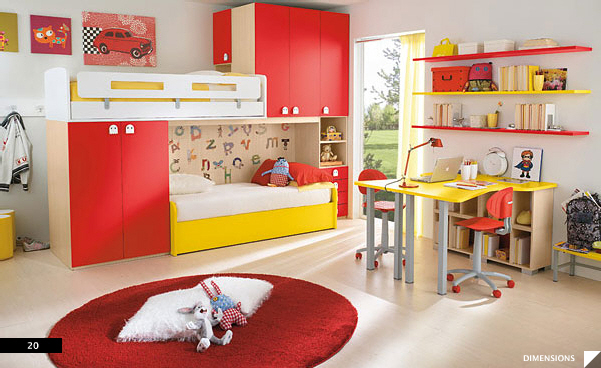 Modern Kids Bedroom · Furniture Maker: Columbini