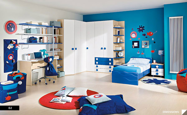 modern kids bedroom furniture maker columbini - Interior Design Kids Bedroom