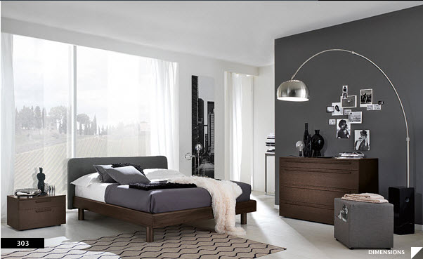 modern style bedroom. bedroom dark walls 17 Strikingly Beautiful Modern Style Bedrooms