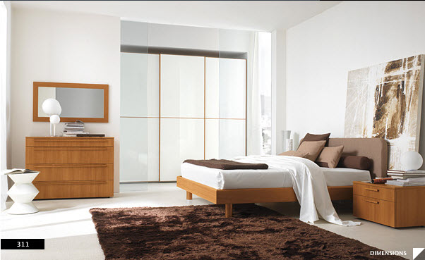 17 strikingly beautiful modern style bedrooms - Contemporary wooden bedroom furniture ...