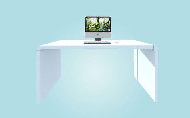 The iDesk is as sleek as any iMac, making it a great décor compliment