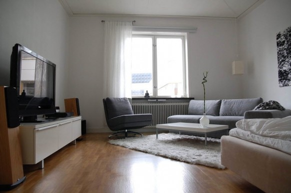 light gray living room