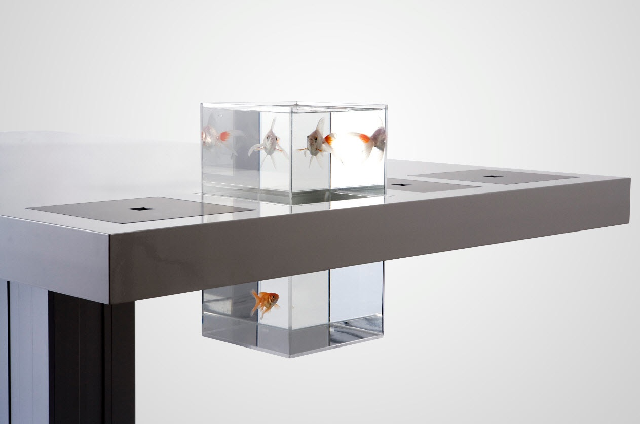 computer furniture design. Milk Desk Goldfish Computer Furniture Design