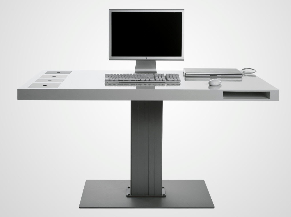 11 modern minimalist computer desks. Black Bedroom Furniture Sets. Home Design Ideas