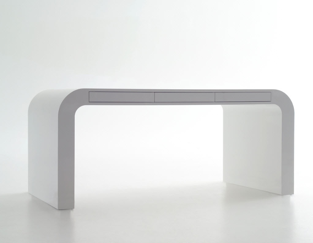 signalement white desk - Contemporary Desk Designs