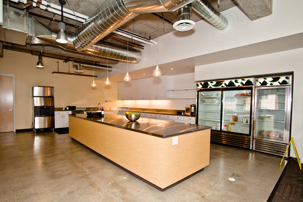 Twitter is growing and so is its office pictures for Office kitchen design