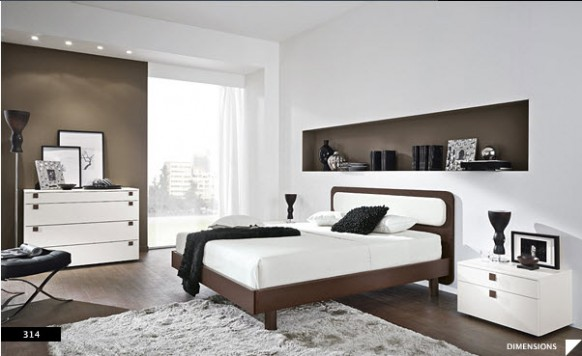 two color bedroom