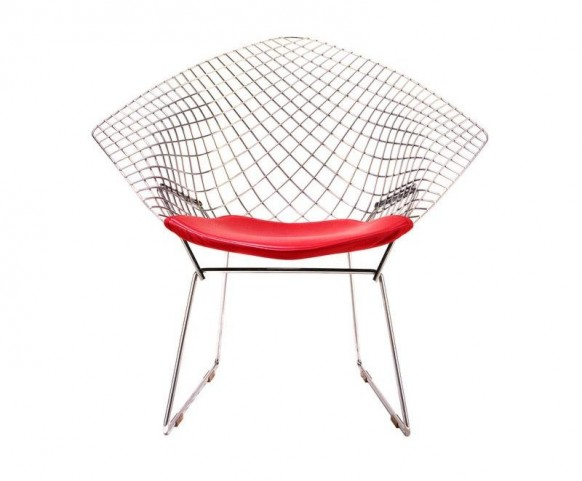 ... Diamond Chair, A Product Of Experimental Genius By Designer Harry  Bertoia Who Welded Metal And Played With Different Shapes And Forms.
