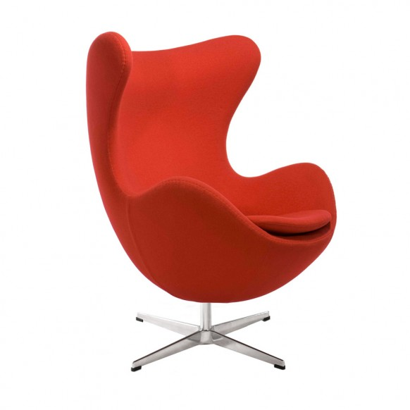 Egg Chair Usage: Itu0027s Steel Frame, High Curved Back And Rounded Bottom  Gives It Great Volume And Works Well In Open Modern Spaces With High  Ceilings, ...