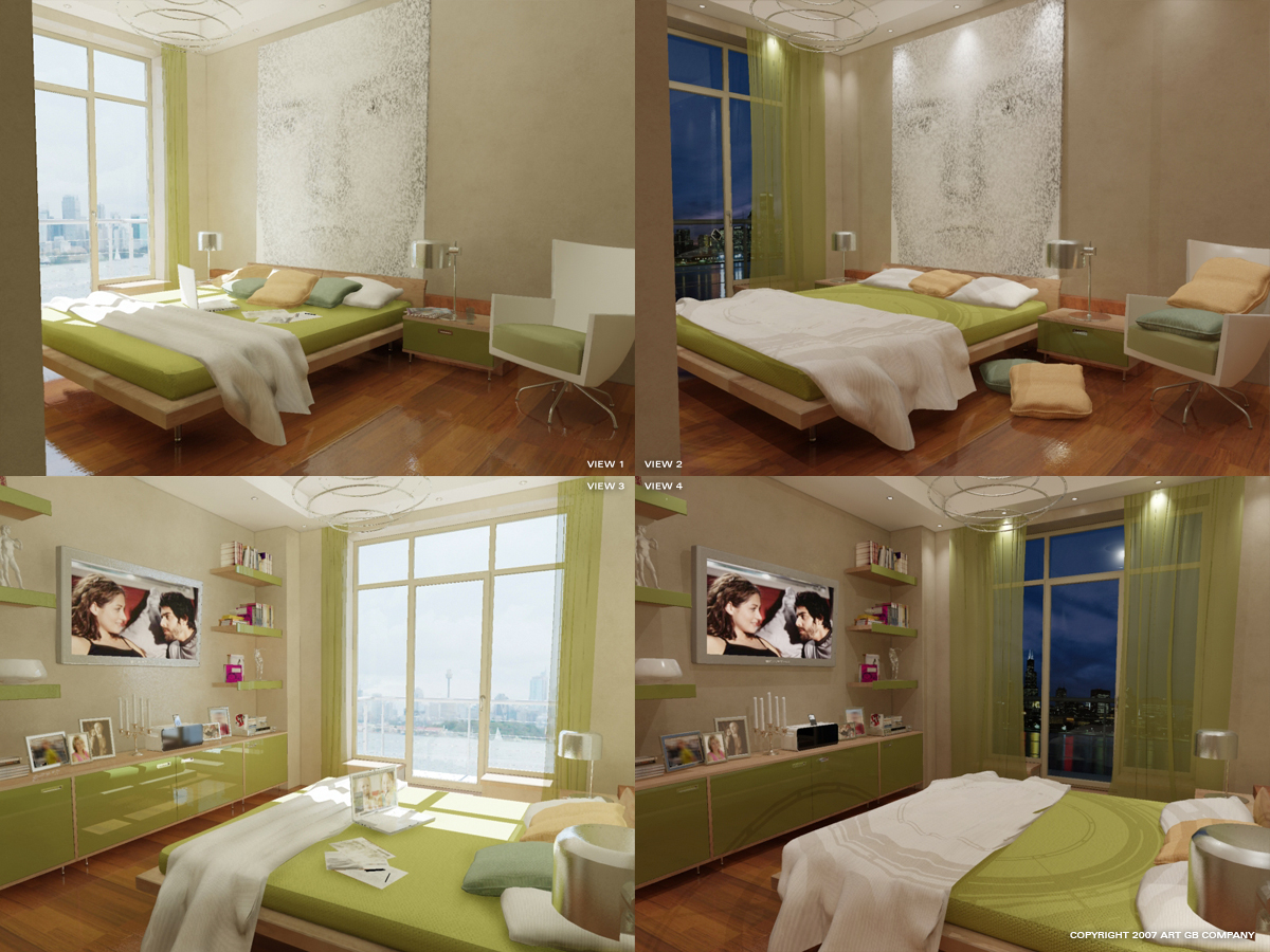 green bedroom by gorgeb