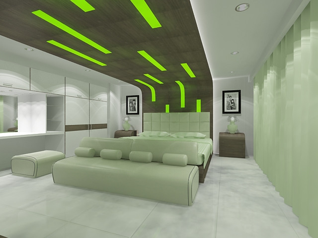 green bedroom by robihartono