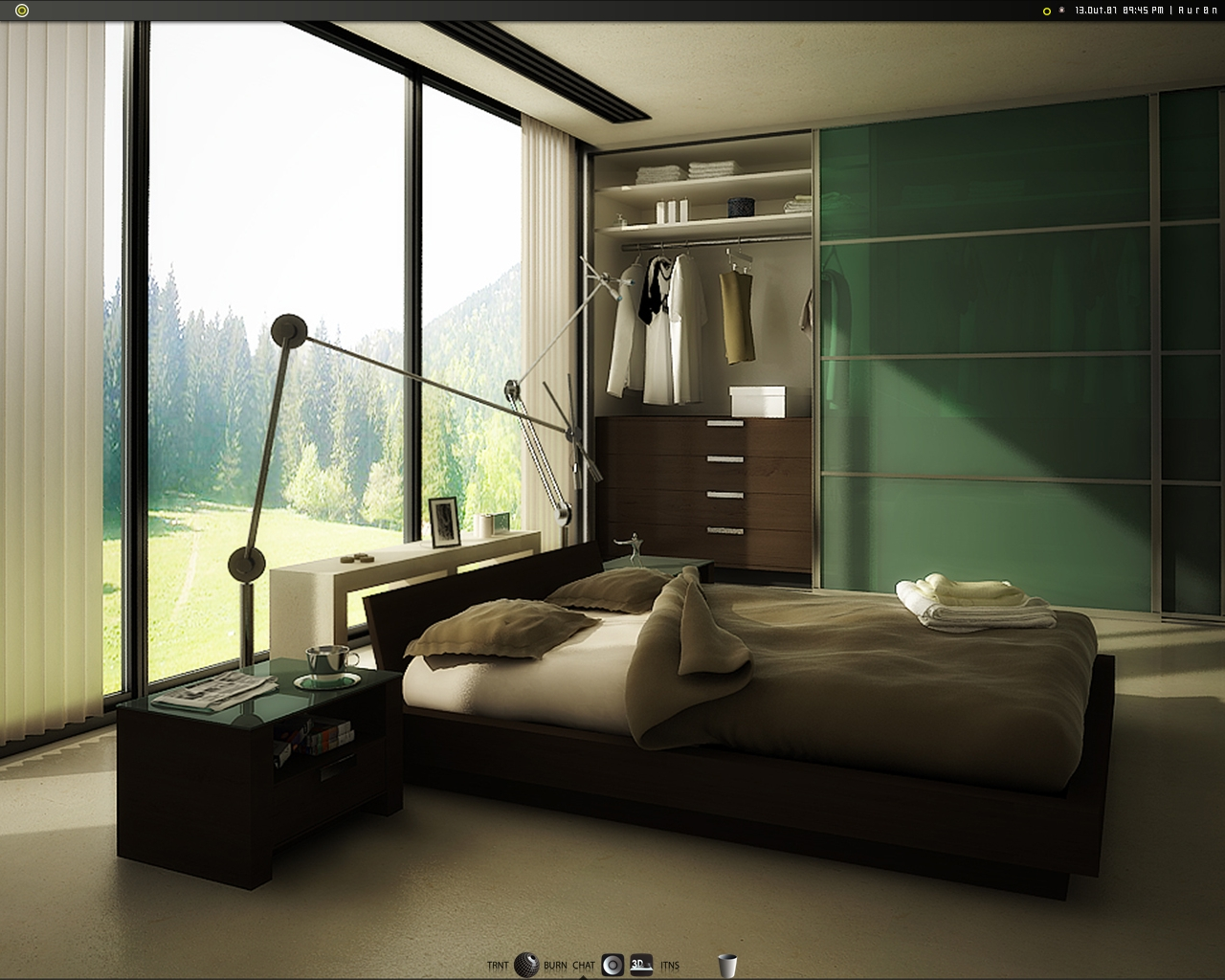 bringing the outdoors into a modern bedroom by rw4n