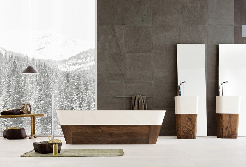 Beautiful contemporary bathrooms from neutra for Modern bathroom wallpaper