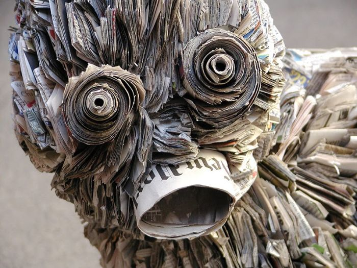 What insanely creative people do with waste newspapers for Creative art from waste