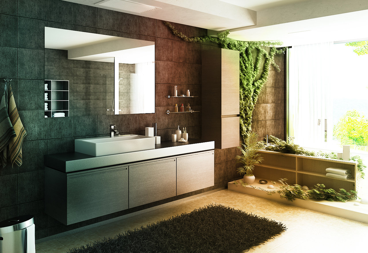 11 wildly artistic bathrooms for Home design zen