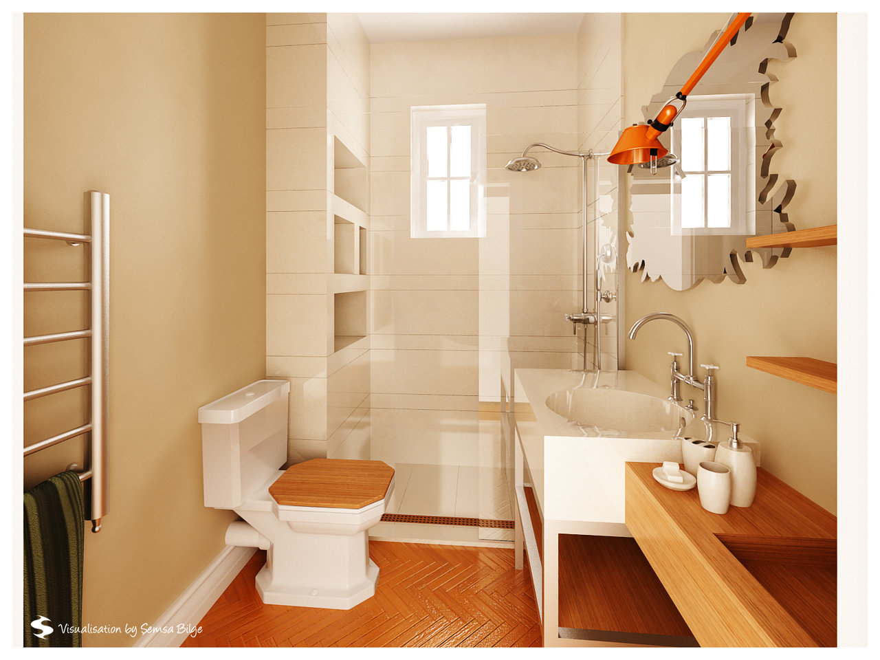 Designing a small bathroom