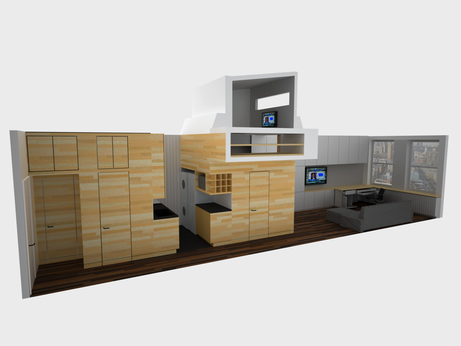 Groovy Space Saving Tiny Apartment New York Largest Home Design Picture Inspirations Pitcheantrous